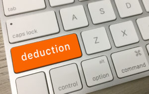 Keyboard with deduction key